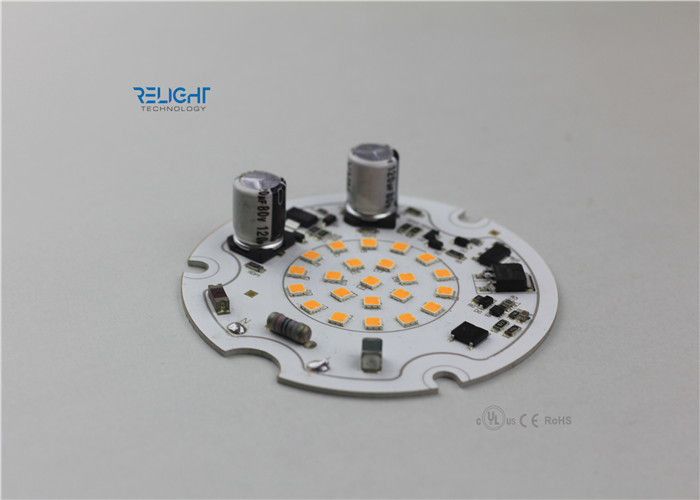 230V Round High Power Led Module , 16W 70mm Led Pcb Module 1600lm For Downlight